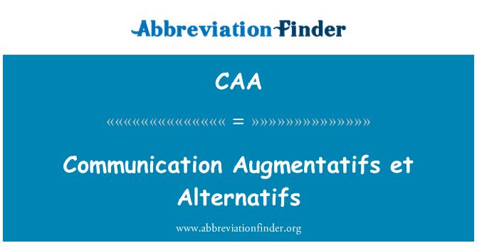CAA: Comunicación Augmentatifs et Alternatifs