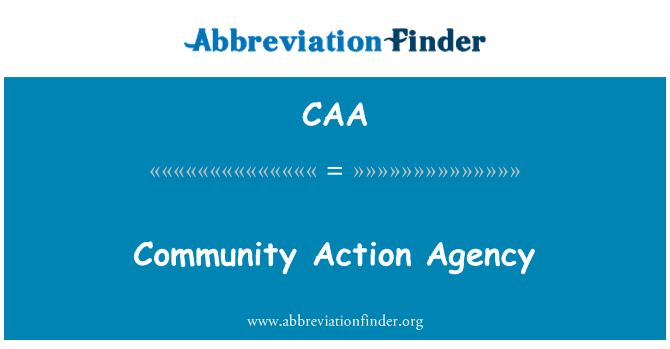 CAA: Community Action Agency