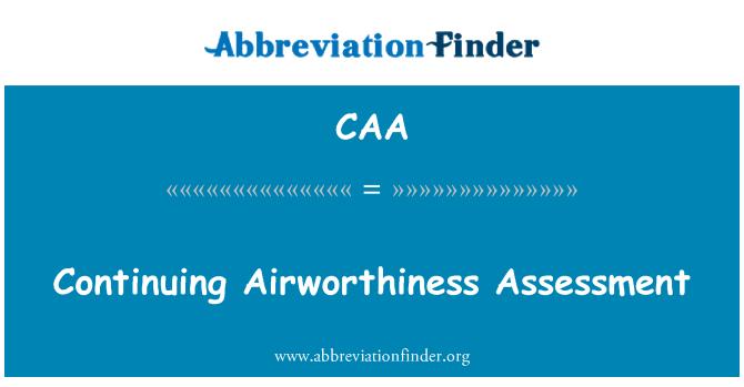 CAA: Evaluación de aeronavegabilidad continuada