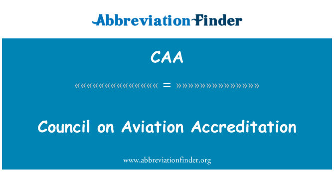 CAA: Council on Aviation Accreditation