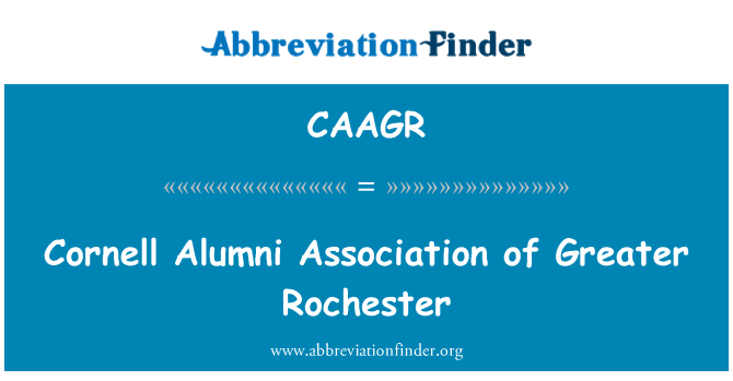 CAAGR: Cornell Alumni Association of Greater Rochester