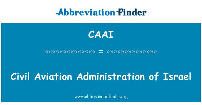 CAAI: Civil Aviation Administration of Israel