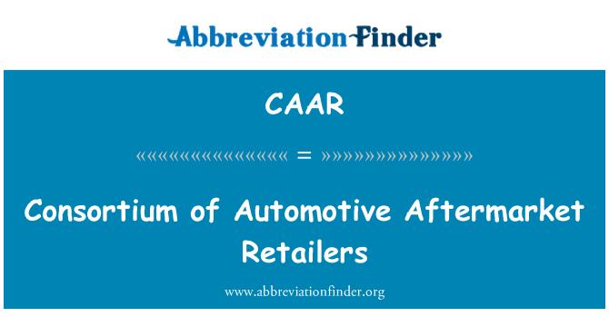 CAAR: Consorcio de minoristas del mercado de posventa automotriz