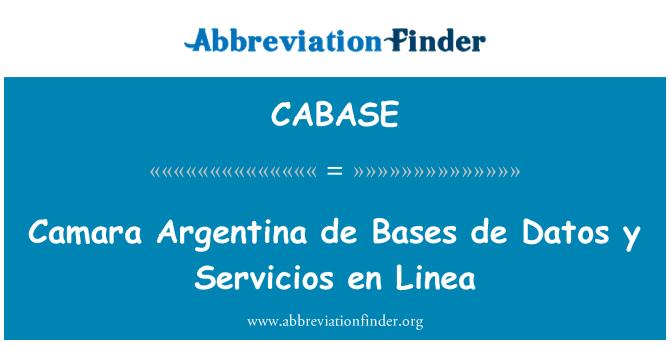 CABASE: Camara Argentina de Bases de Datos y Servicios en Linea