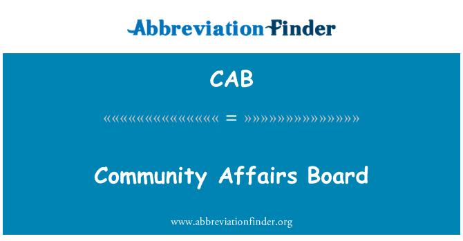 CAB: Junta comunitaria de asuntos