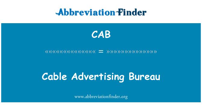 CAB: Cable Advertising Bureau