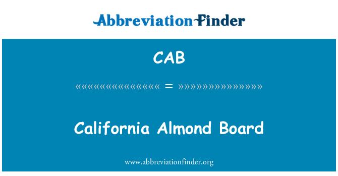CAB: California Board almendra