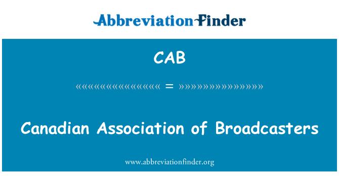 CAB: Asociación Canadiense de los organismos de radiodifusión