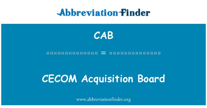 CAB: Tarjeta de adquisición de CECOM
