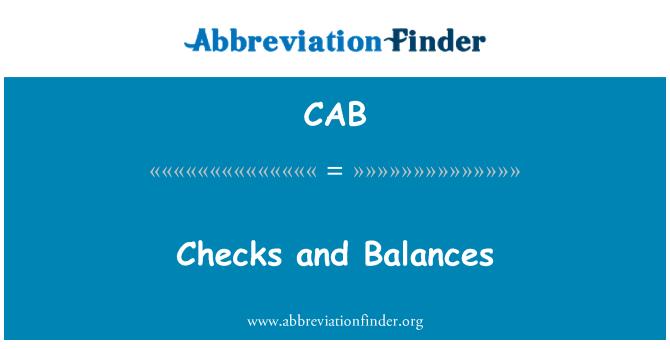 CAB: Controles y equilibrios