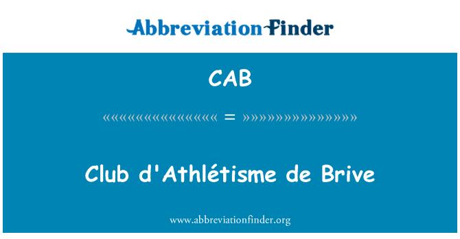CAB: De d'Athlétisme Club Brive