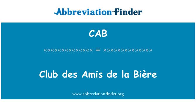 CAB: Club des Amis de la Bière