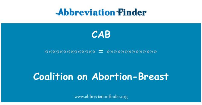 CAB: Coalición sobre aborto-mama