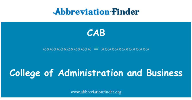 CAB: College of Administration and Business