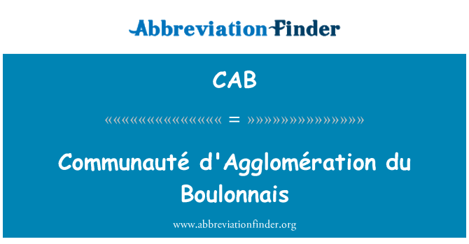 CAB: Communauté d'Agglomération du Boulonnais