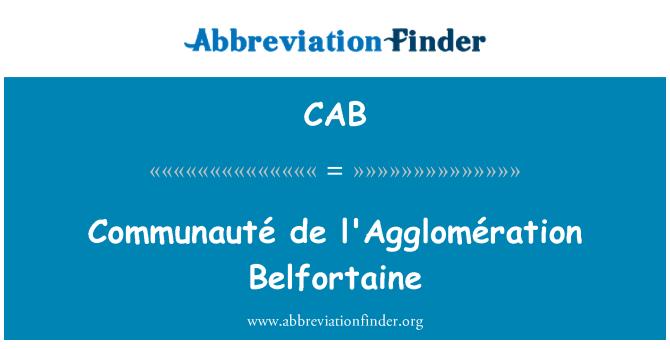 CAB: Communauté de l'Agglomération Belfortaine
