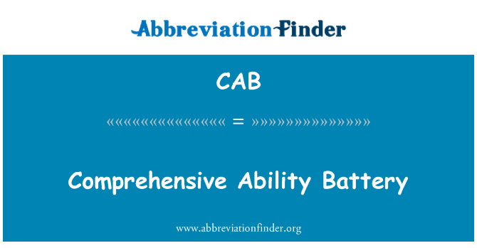 CAB: Comprehensive Ability Battery