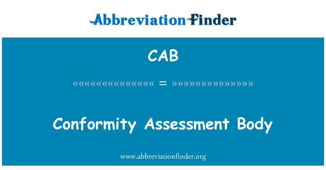 CAB: Organismo de evaluación de conformidad