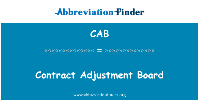 CAB: Contract Adjustment Board