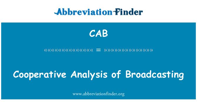 CAB: Análisis cooperativo de difusión
