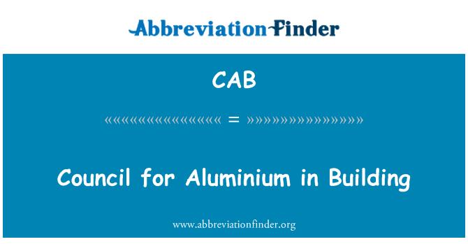 CAB: Council for Aluminium in Building