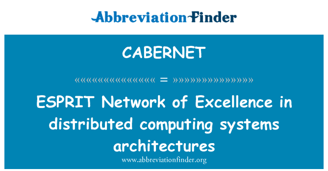 CABERNET: ESPRIT Network of Excellence in distributed computing systems architectures