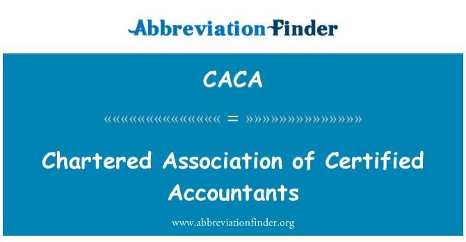 CACA: Chartered Asociación de contadores certificados