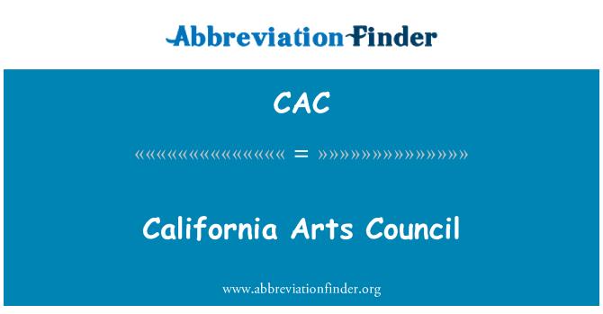 CAC: California Arts Council