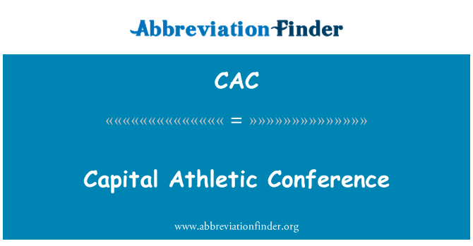 CAC: Capital Athletic Conference