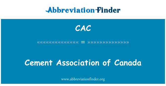 CAC: Cement Association of Canada