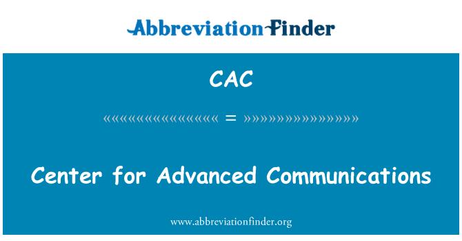 CAC: Centro de comunicaciones avanzadas