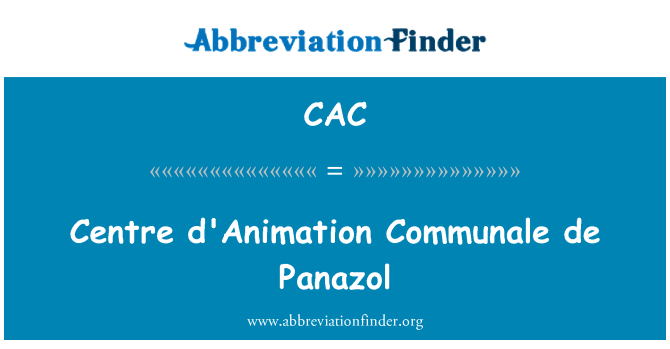 CAC: Centre d'Animation Communale de Panazol