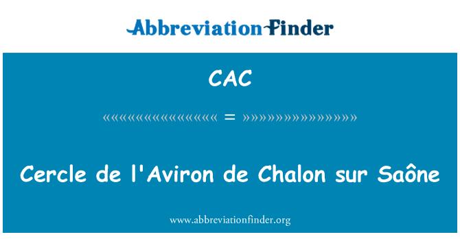 CAC: Cercle de l'Aviron de Chalon sur Saône