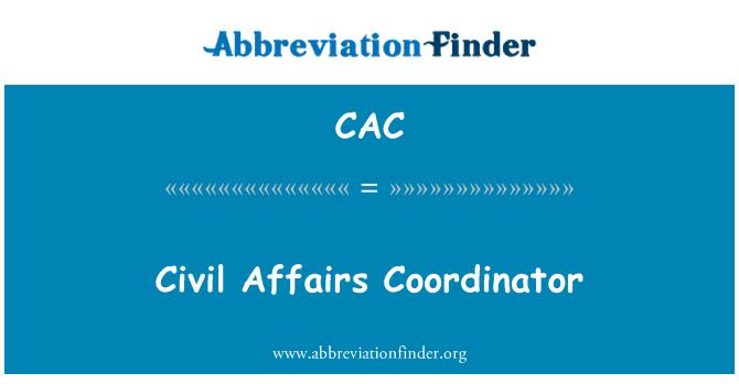 CAC: Coordinador de asuntos civiles