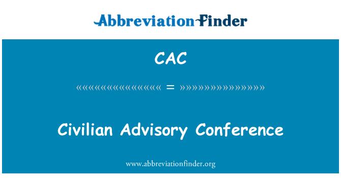 CAC: Conferencia Consultiva civil