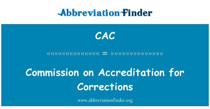 CAC: Επιτροπή για τη διαπίστευση για διορθώσεις