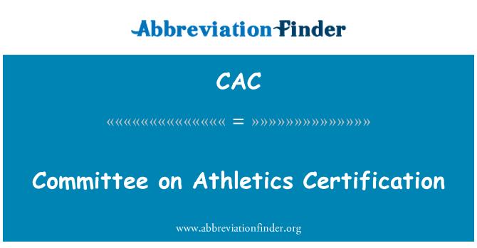 CAC: Comité de certificación de atletismo