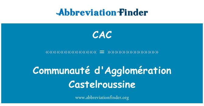 CAC: Communauté d'Agglomération Castelroussine