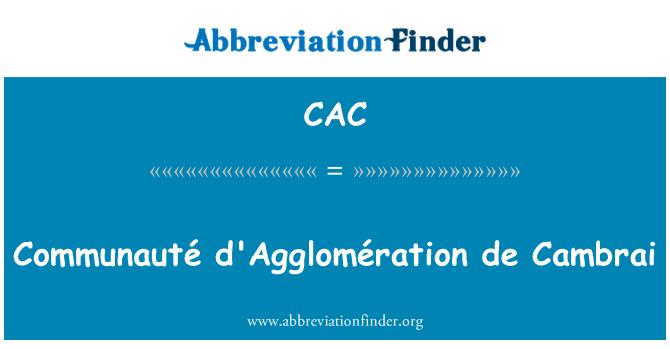 CAC: Communauté d'Agglomération de Cambrai