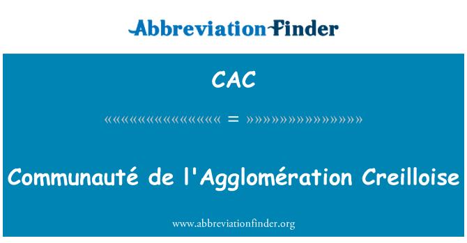 CAC: Communauté de l'Agglomération Creilloise