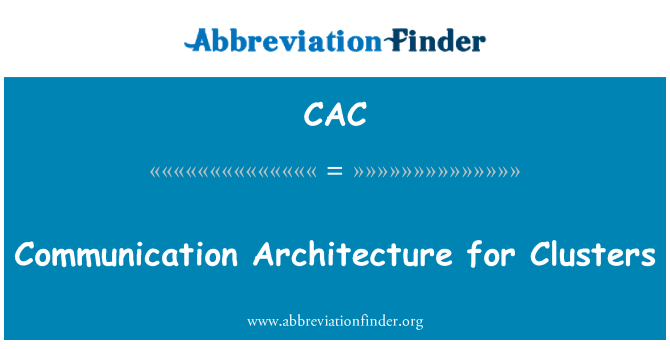 CAC: Arquitectura de comunicación para Clusters
