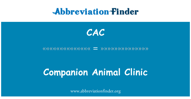 CAC: Companion Animal Clinic