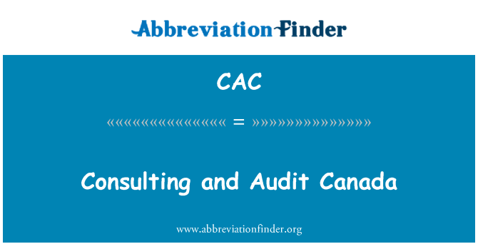 CAC: Consulting and Audit Canada