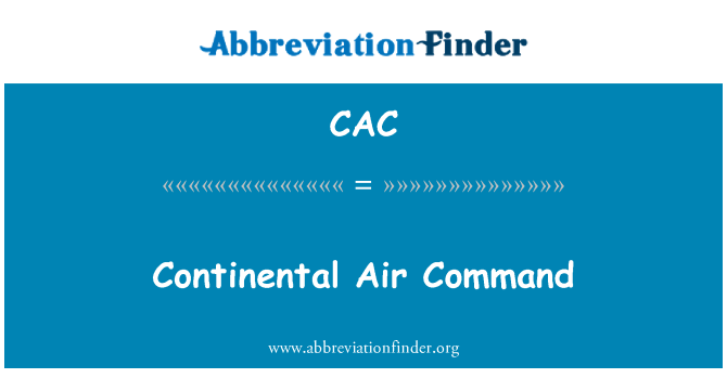 CAC: Continental Air Command