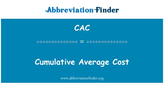 CAC: Costo promedio acumulativo