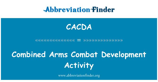 CACDA: Kombineeritud relvad võidelda arendustegevus
