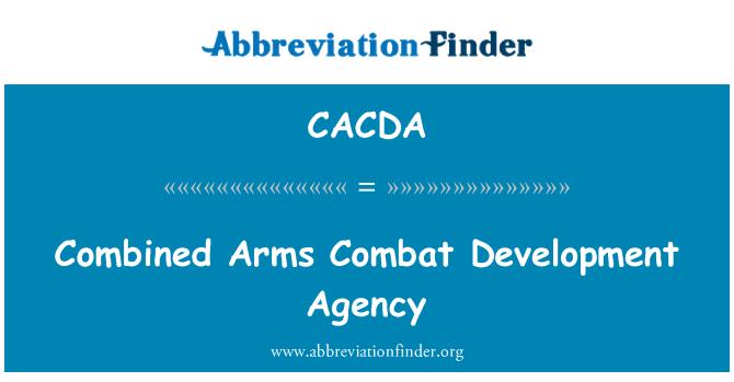CACDA: Kombine silah mücadele Kalkınma Ajansı