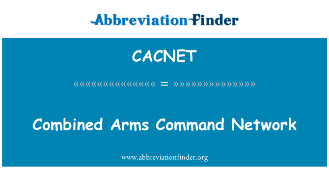 CACNET: Combined Arms Command Network