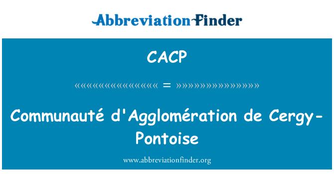CACP: Communauté d'Agglomération de Cergy-Pontoise