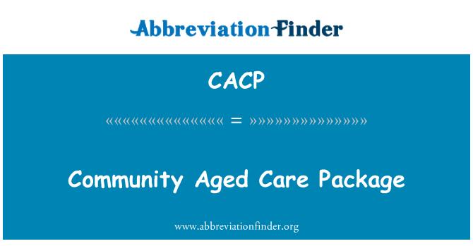 CACP: Bendrijos amžiaus priežiūros paketas